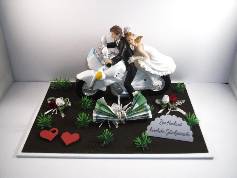 Anlasse Geldgeschenk Hochzeit Biker Motorrad Roller