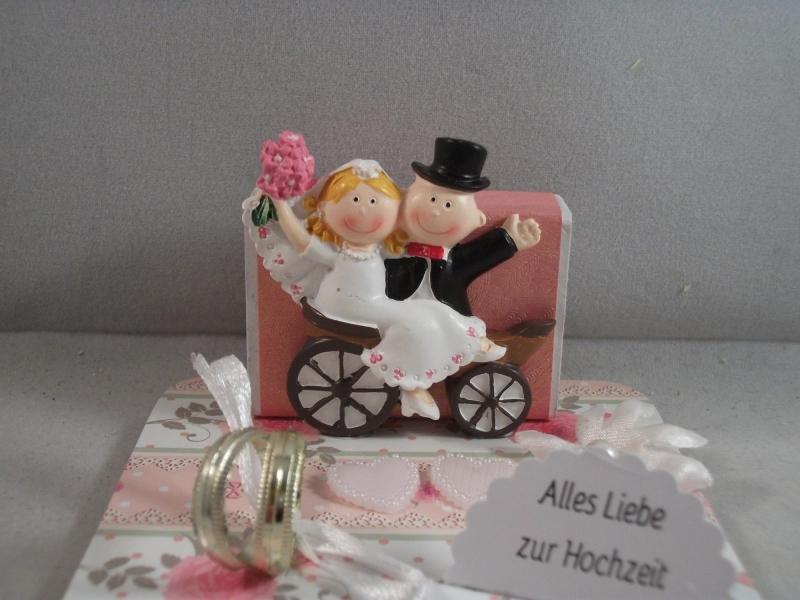 Kleinesbild - Geldgeschenk, Hochzeit, Ehe, Vermählung, kleines Geschenk, Kutsche, Nostalgie