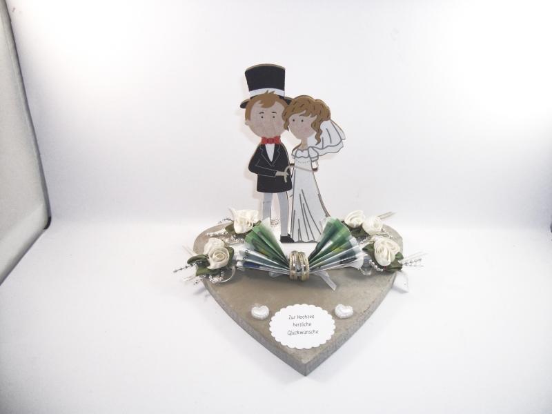 - Geldgeschenk, Hochzeit, Ehe, Vermählung, Herz, Holzherz, Brautpaar-Figur aus Holz, Hochzeitsgeschenk - Geldgeschenk, Hochzeit, Ehe, Vermählung, Herz, Holzherz, Brautpaar-Figur aus Holz, Hochzeitsgeschenk