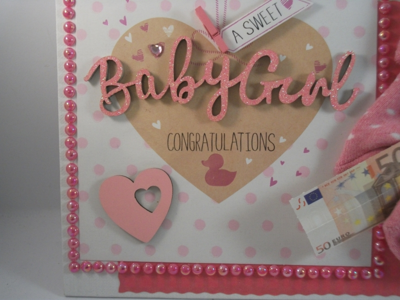 Kleinesbild - Geldgeschenk, Geburt, Taufe, Mädchen, Söckchen, Erstlingssöckchen