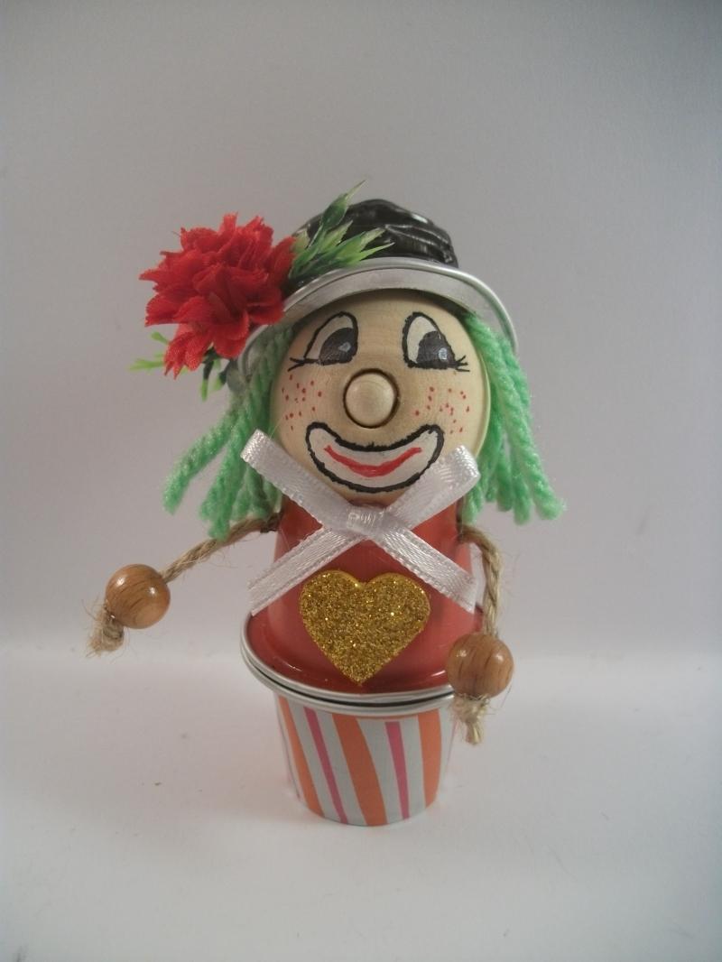 Kleinesbild - Clown aus Nespresso-Kapseln, Tischdeko, Fasching, Karneval, Helau, Alaaf, 0002