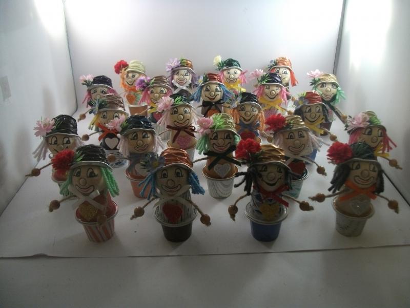 Kleinesbild - Clowns aus Nespresso-Kapseln, 3er-Überraschungs-Set, Tischdeko, Fasching, Karneval, Helau, Alaaf,