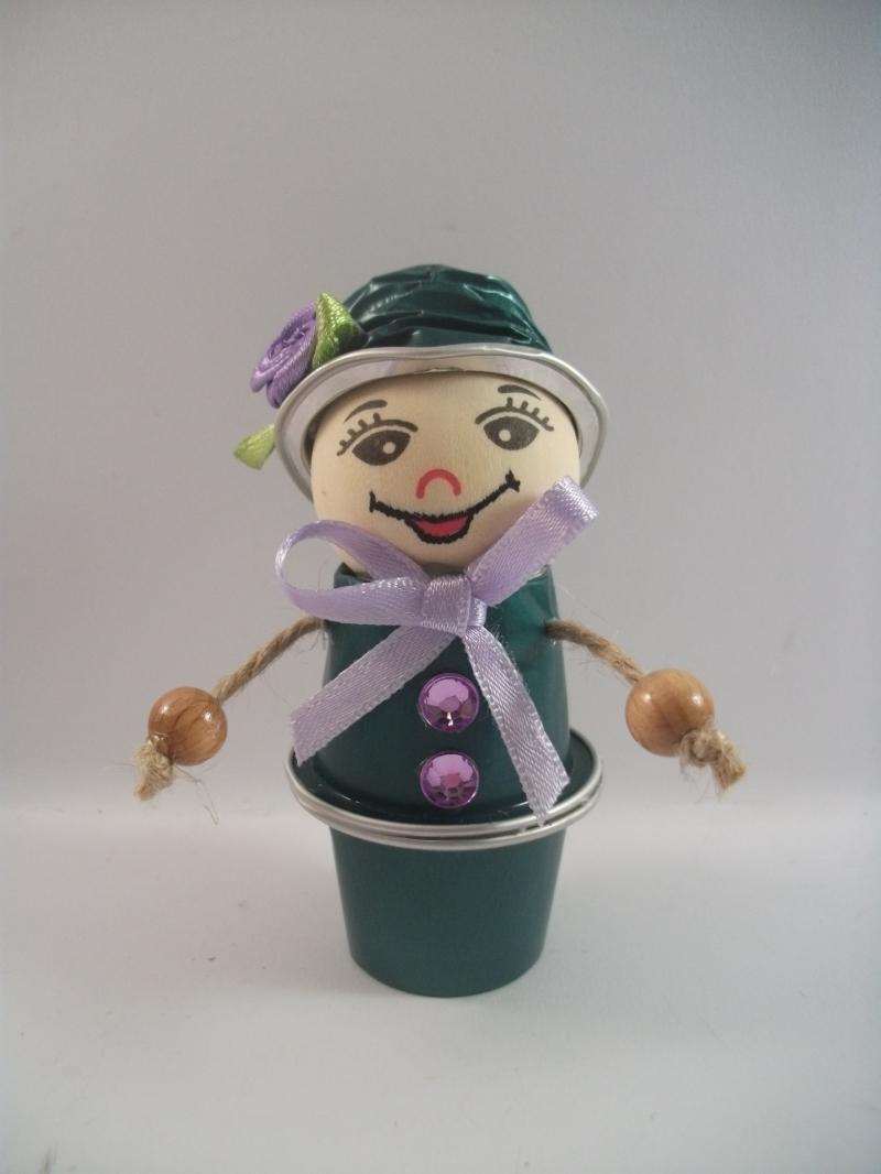 Kleinesbild - Blumenkind aus Nespresso-Kapseln, Kaffeekapseln, Tischdeko, Frühling, 0005