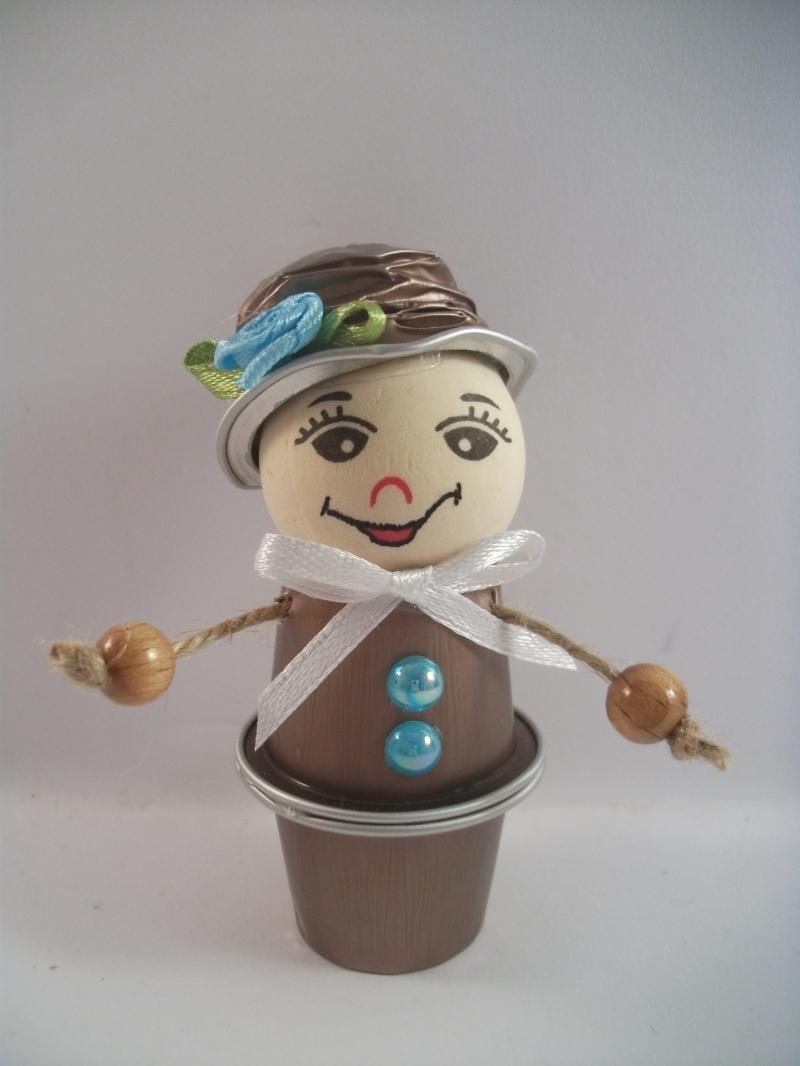 Kleinesbild - Blumenkind aus Nespresso-Kapseln, Kaffeekapseln, Tischdeko, Frühling, 0006
