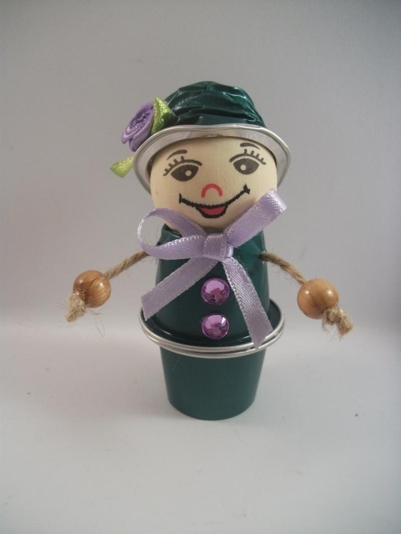 Kleinesbild - Blumenkinder aus Nespresso-Kapseln, 3er-Überraschungs-Set, Tischdeko,  Kaffeekapseln, Geburtstag, Muttertag