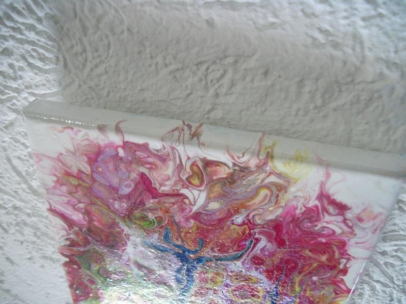 Kleinesbild - Wandbild, Acrylmalerei, Acryl-Pouring, Pouring-Technik, Fließtechnik, Pouring, Kunst, Malerei, Bild, Wanddekoration, Einzelstück, Unikat