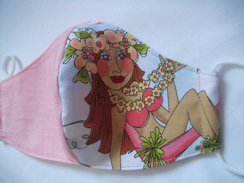 Kleinesbild -  Mund-Nasen-Maske, Maske, Behelfsmaske, Gesichtsmaske, lustiges Motiv von Loralie Designs®, Damen, Teenies, Teens, Mädchen, L02-85