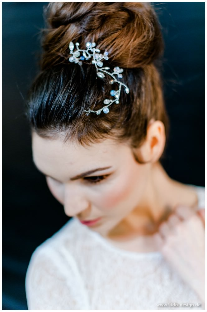 Anlasse Haarschmuck Braut Blumen Rebe Diadem Tiara Strass