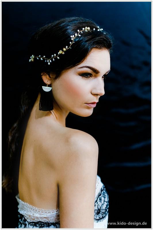 Anlasse Haarschmuck Hochzeit Braut Gold Vintage Bluten