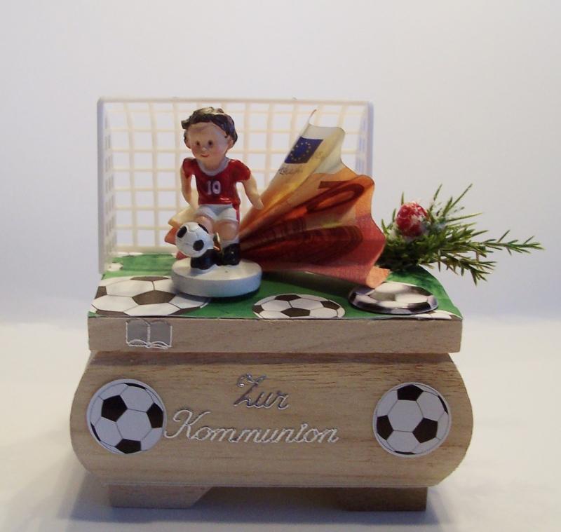 Geldgeschenk Fussball Kommunion Konfirmation Junge Geschenkbox