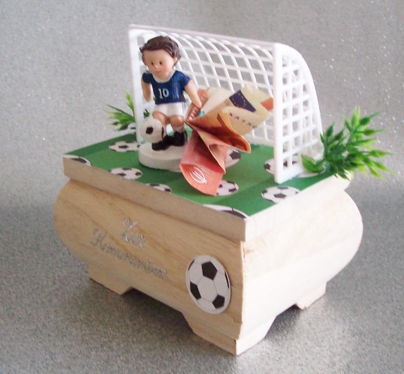 Kleinesbild - Geldgeschenk zum Geburtstag, zur Kommunion,Fußballspieler Fußball