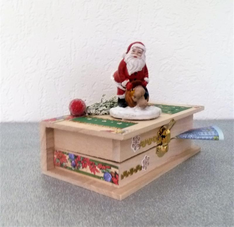 - Geldgeschenk Weihnachten Weihnachtsmann Geschenkkästchen Geschenkverpackung  - Geldgeschenk Weihnachten Weihnachtsmann Geschenkkästchen Geschenkverpackung
