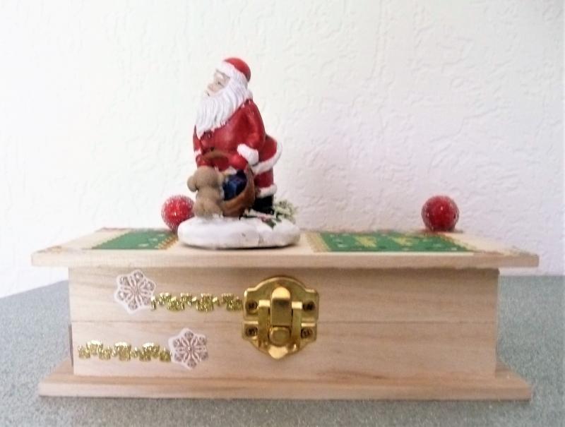 Kleinesbild - Geldgeschenk Weihnachten Weihnachtsmann Geschenkkästchen Geschenkverpackung