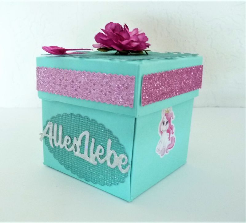 Kleinesbild - Überraschungsbox Geldgeschenk Mädchen Elfen personalisierbar