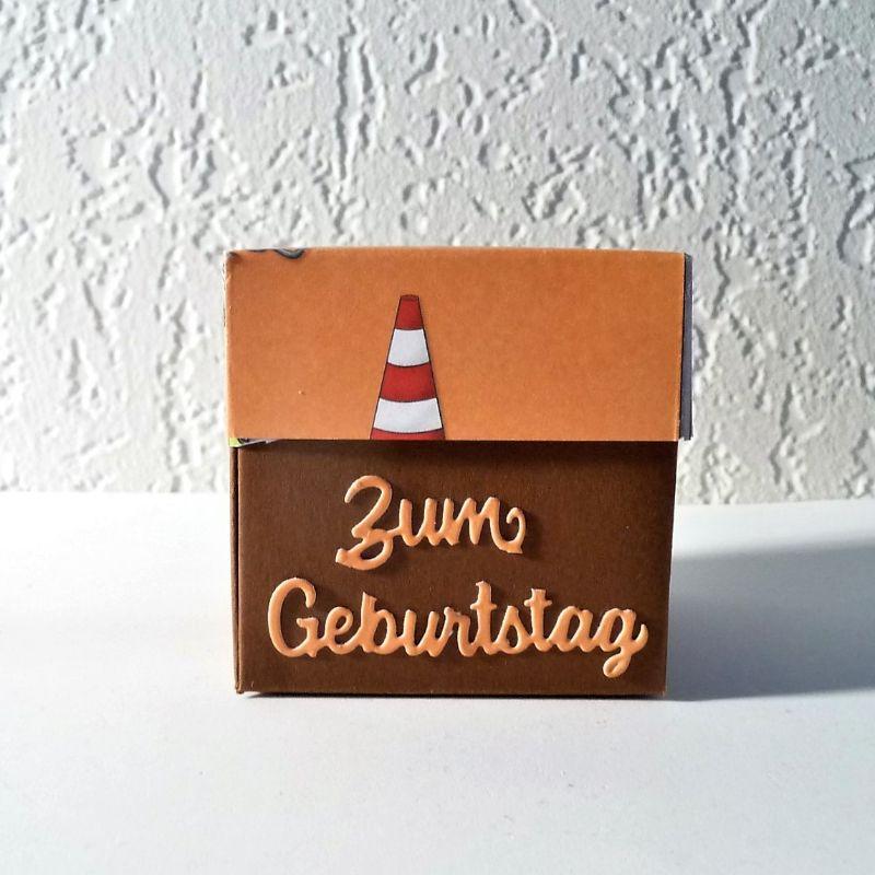 Kleinesbild - Überraschungsbox Geldgeschenk für Bauarbeiter zum Geburtstag Geschenk Verpackung