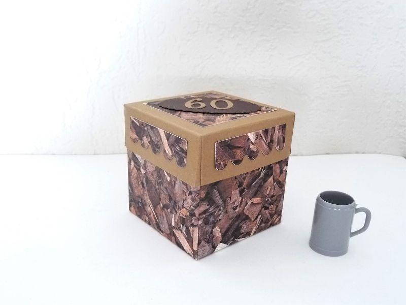 Kleinesbild - Überraschungsbox Geldgeschenk zum  60. Geburtstag Geschenk Verpackung Männer