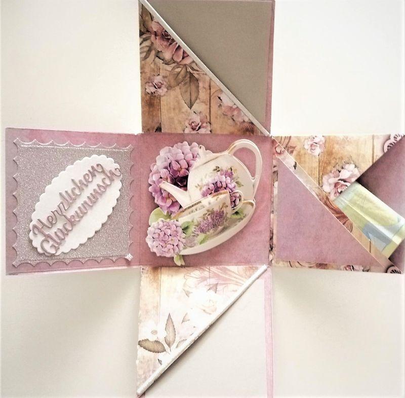 Kleinesbild - Überraschungsbox Geldgeschenke 80. Geburtstag Frau personalisierbar