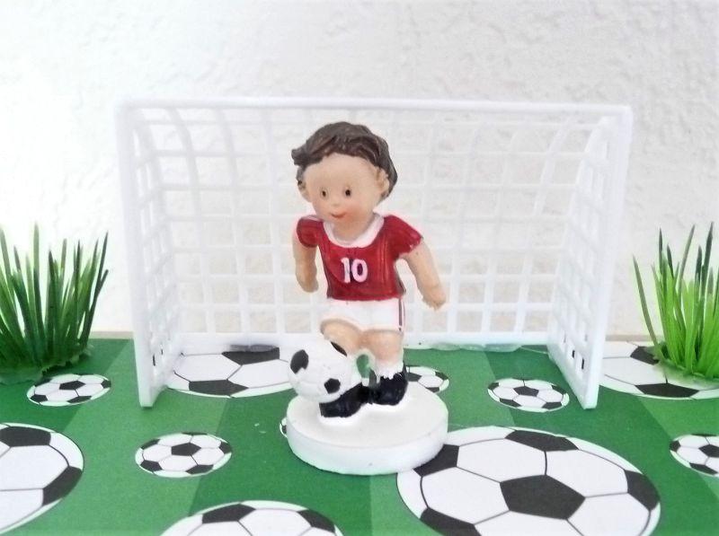 Kleinesbild - Geldgeschenke Gutschein Kommunion Konfirmation Geburtstag Geschenk Box Fussballer rot-weiss