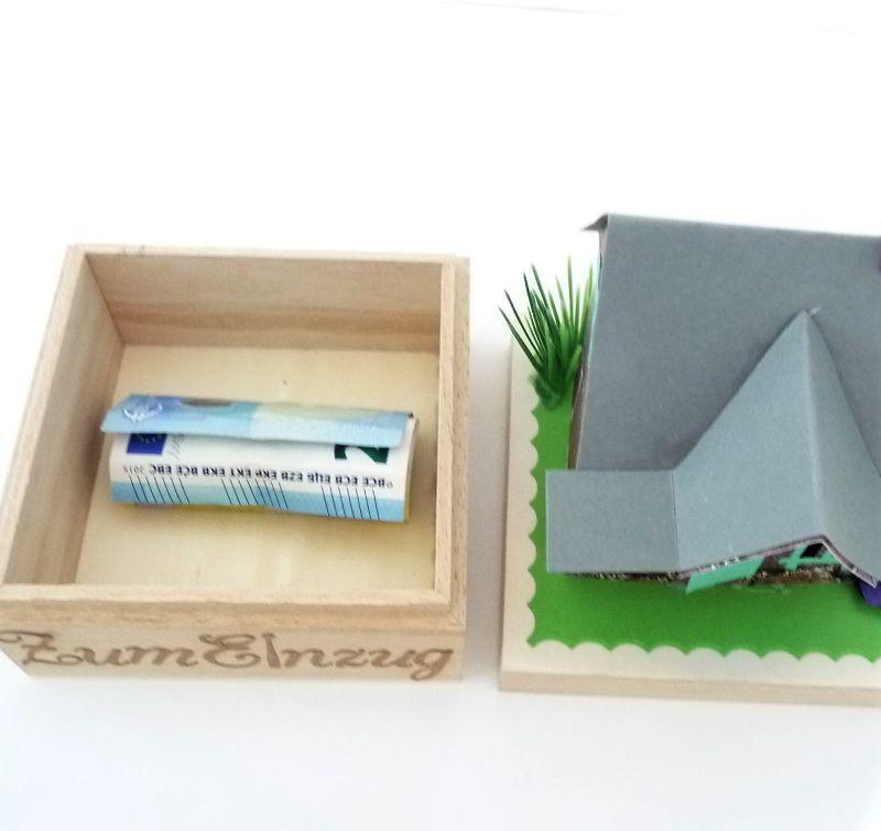 Kleinesbild - Geldgeschenk zum Einzug Umzug Haus Geschenk Box Geschenkidee personalisierbar