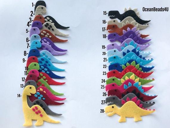 Kleinesbild - Fühlte Dinosaurier (freie Farbe), prähistorische Tiere Filz, Jurassic fühlte Tiere Formen, Filz sterben schneidet