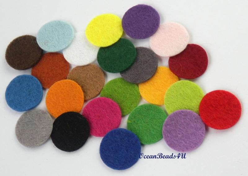 Kleinesbild - Handgemachtes 100 Filzkreise mit 1 cm , Filz formen, Filz Applikation