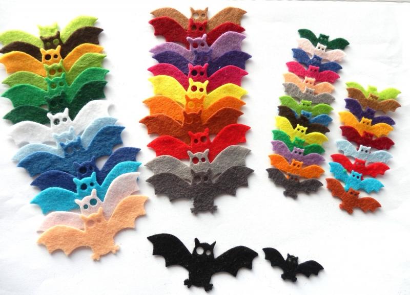 - Filz Fledermäuse, Filz Halloween Dekoration, Halloween Dekoration - Filz Fledermäuse, Filz Halloween Dekoration, Halloween Dekoration