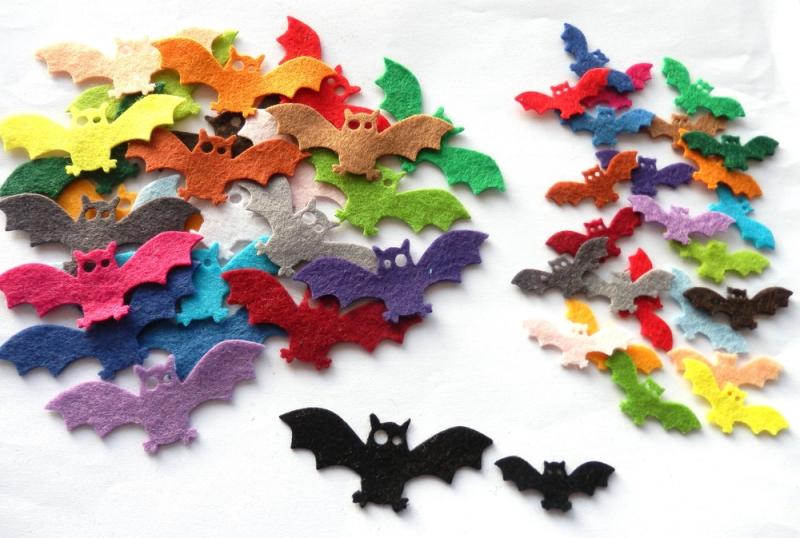 Kleinesbild - Filz Fledermäuse, Filz Halloween Dekoration, Halloween Dekoration