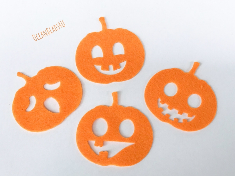 Anlasse Kurbis Filzform Fur Halloween Kurbis Filz Applikation