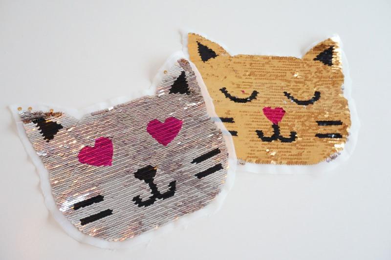 - Wendepailletten Patches / Aufnäher Katzengesicht - Wendepailletten Patches / Aufnäher Katzengesicht