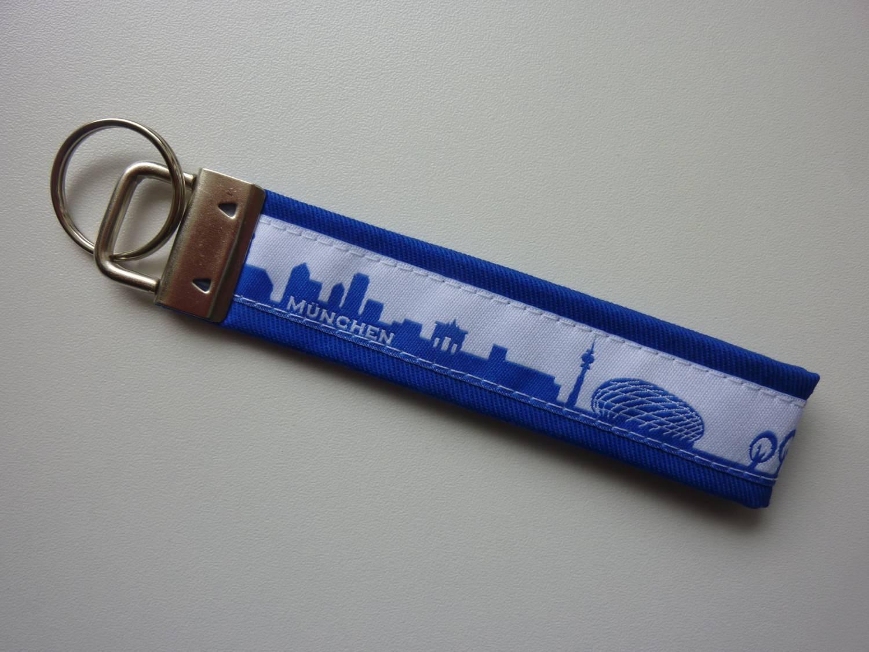Kleinesbild - Schlüsselanhänger München in blau/weiß