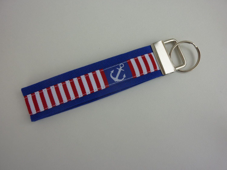 - Schlüsselanhänger Anker blau/weiß/rot - Schlüsselanhänger Anker blau/weiß/rot