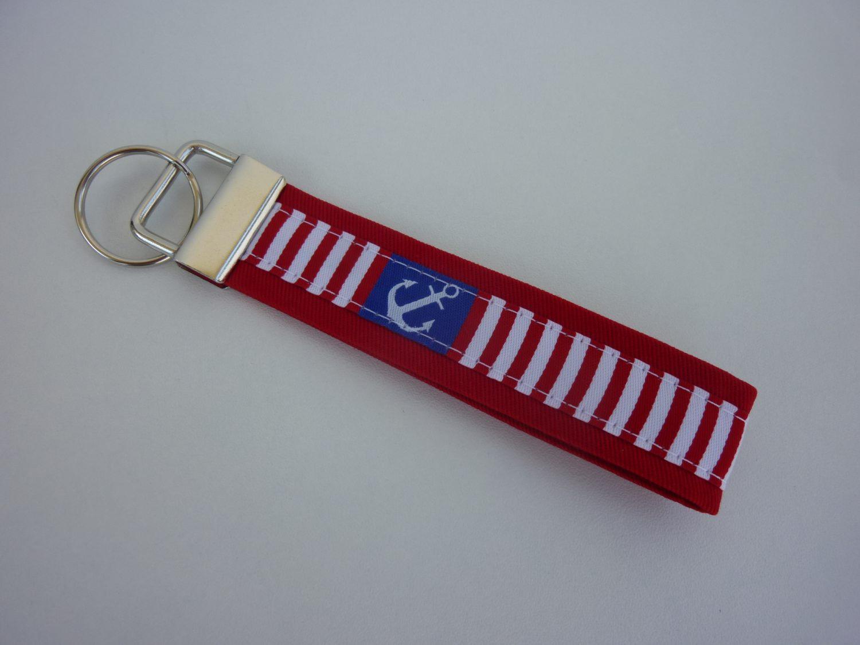 - Schlüsselanhänger Anker rot/weiß/blau - Schlüsselanhänger Anker rot/weiß/blau