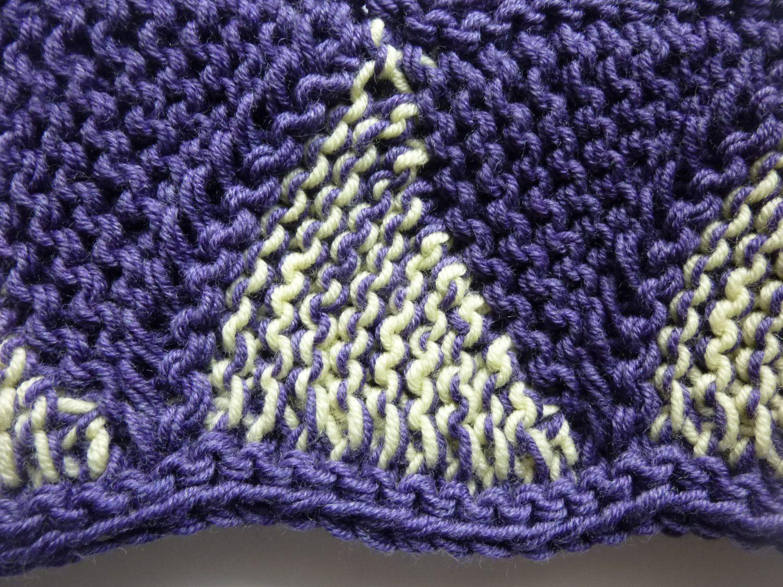 Kleinesbild - Stirnband violett hellgelb Schurwolle