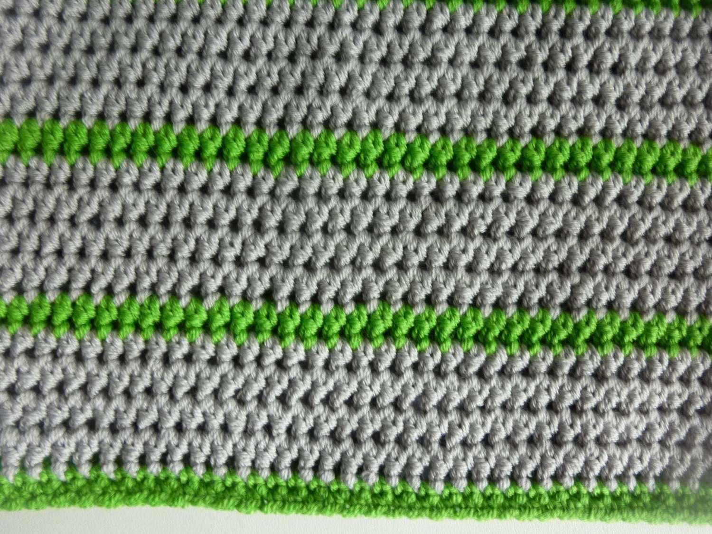 Kleinesbild - Sommermütze Häkelmütze hellgrau hellgrün Baumwolle