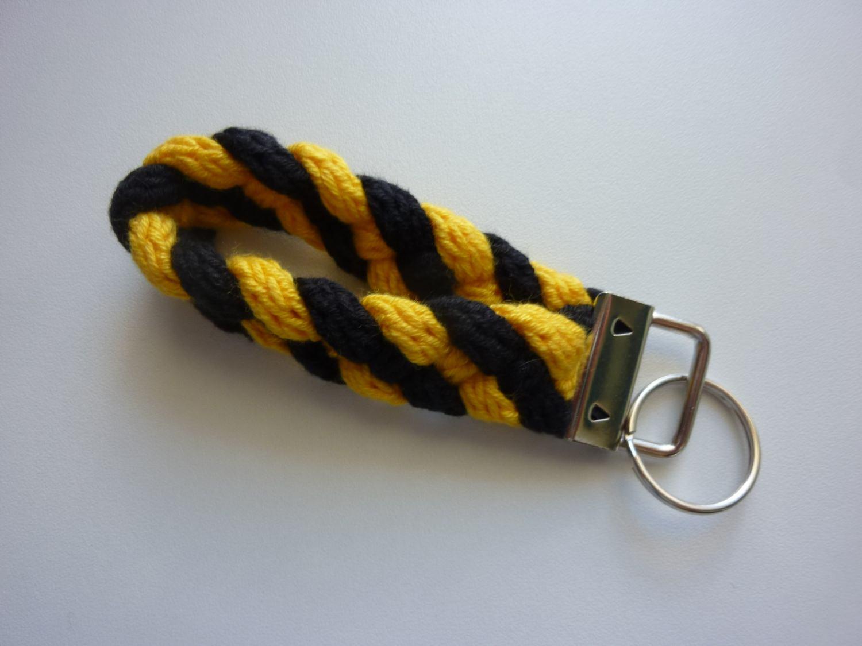 Kleinesbild - Schlüsselanhänger schwarz gelb