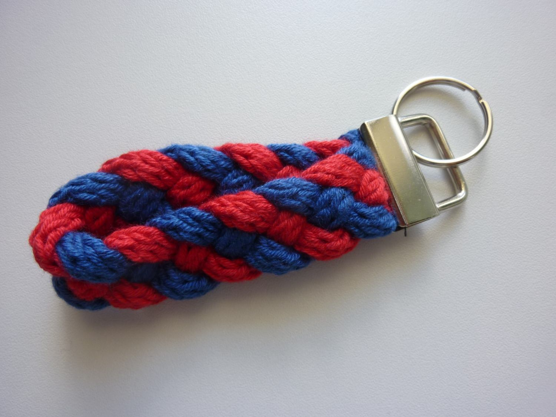 - Schlüsselanhänger rot blau - Schlüsselanhänger rot blau