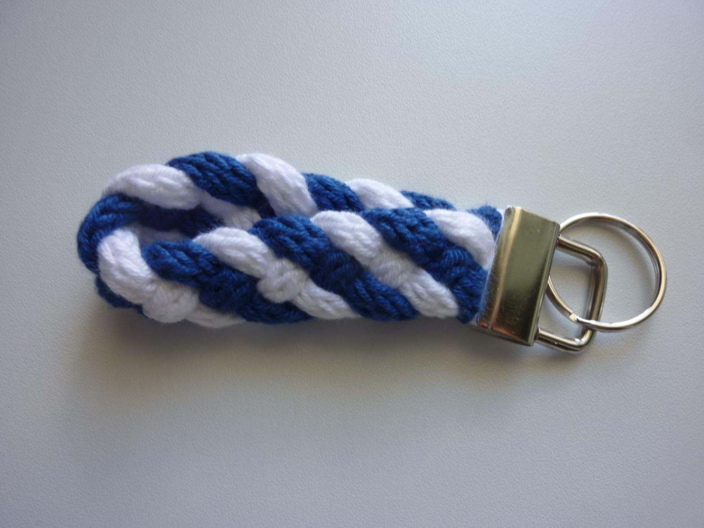 - Schlüsselanhänger blau weiß - Schlüsselanhänger blau weiß