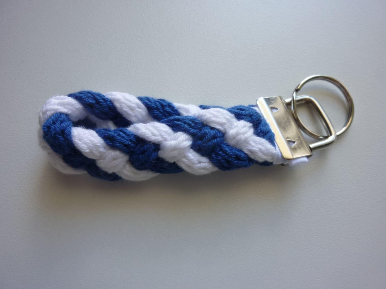 Kleinesbild - Schlüsselanhänger blau weiß