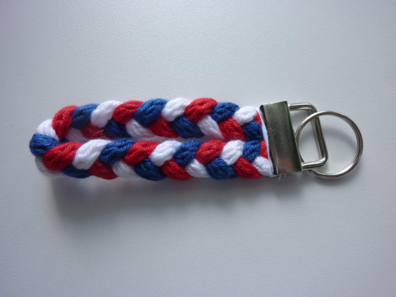 - Schlüsselanhänger blau weiß rot - Schlüsselanhänger blau weiß rot