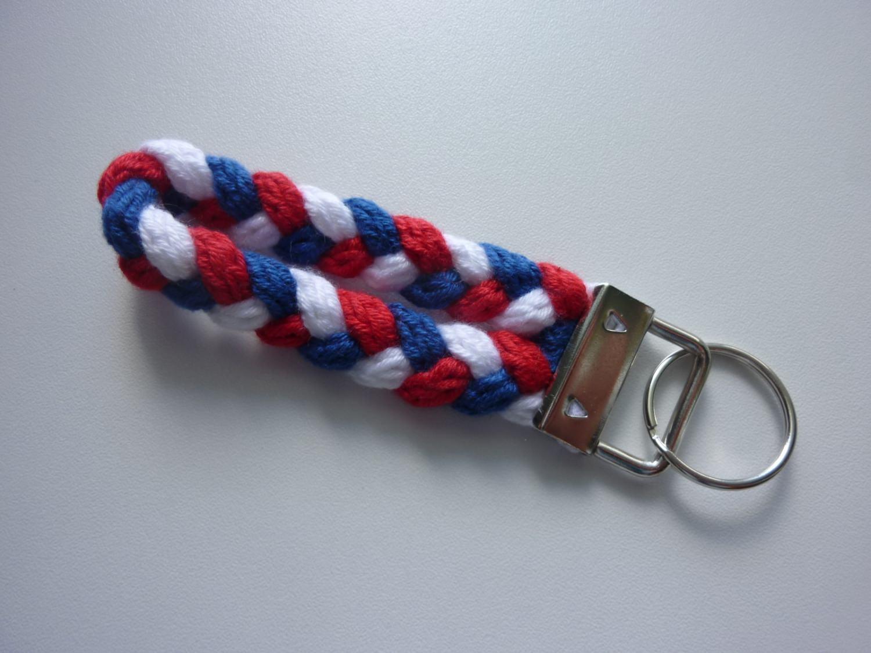 Kleinesbild - Schlüsselanhänger blau weiß rot