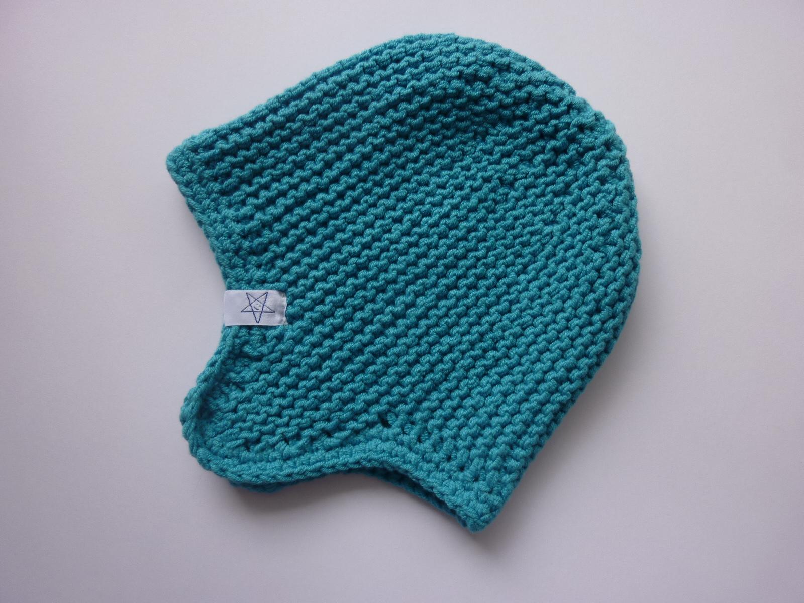 Kleinesbild - Babymütze Gr. 41 - 46 Türkis aus Baumwolle