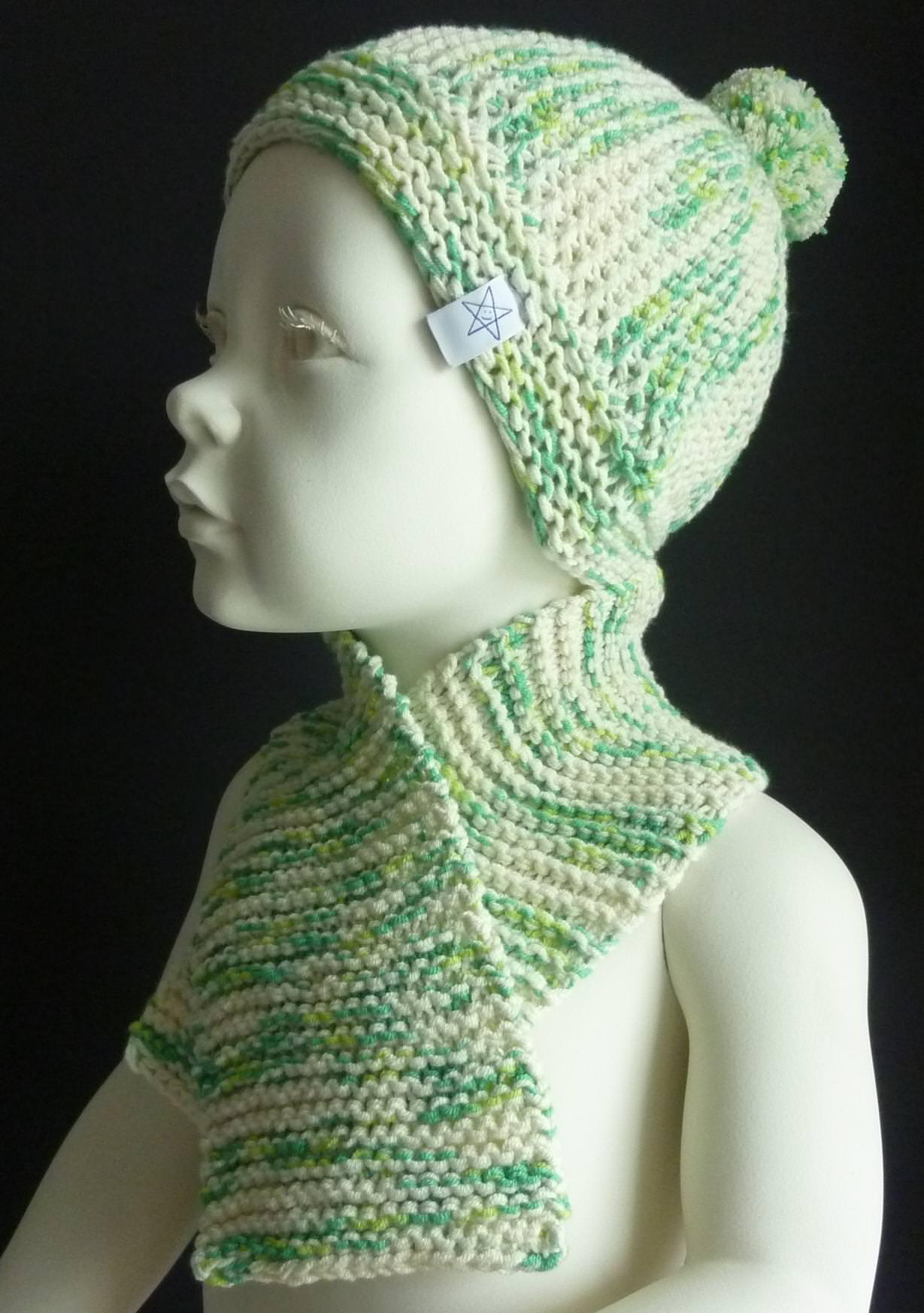 - Babymütze Gr. 41 - 46 + Schal aus Baumwolle - Babymütze Gr. 41 - 46 + Schal aus Baumwolle
