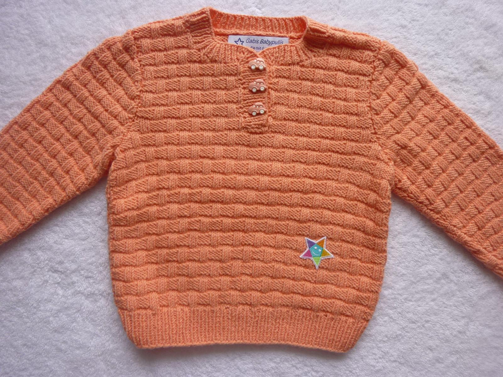 - Kinderpullover Gr. 86/92 apricot Baumwolle - Kinderpullover Gr. 86/92 apricot Baumwolle
