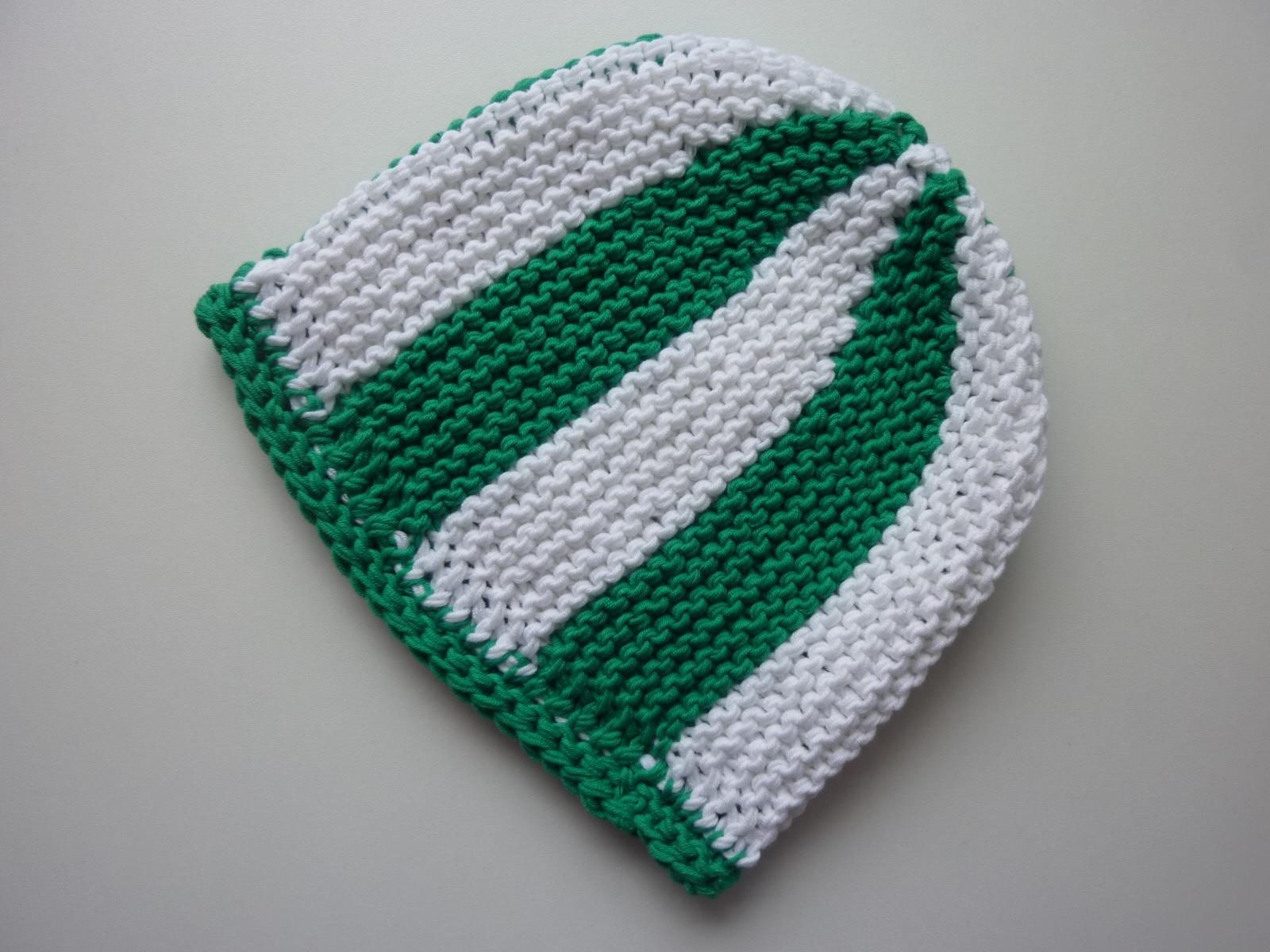 Kleinesbild - Strickmütze Fußball-Fan grün weiß