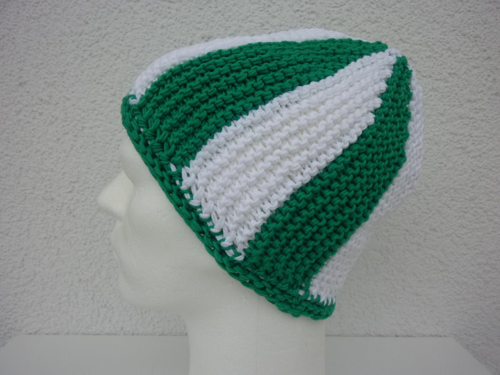 - Strickmütze Fußball-Fan grün weiß - Strickmütze Fußball-Fan grün weiß
