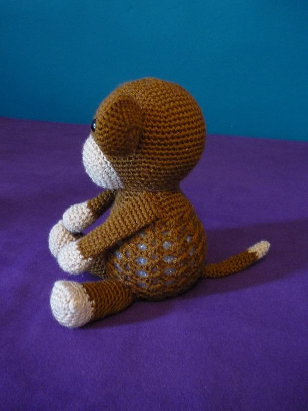 Kleinesbild - Gehäkeltes Nachtlicht - Dekolicht - brauner Affe - Kinderzimmer - Deko (Kopie id: 100188853)