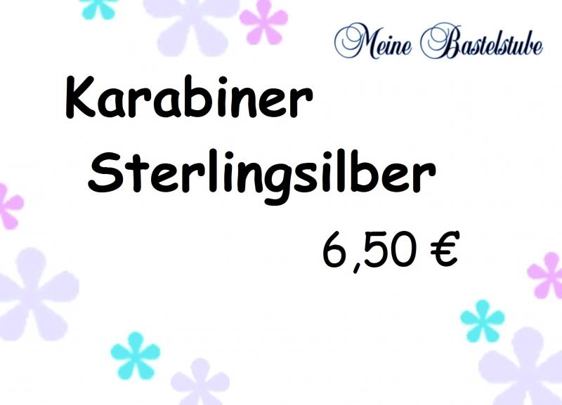- + Sterlingsilber-Karabiner 6,50€  - + Sterlingsilber-Karabiner 6,50€