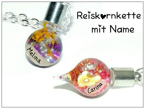 - Namenskette mit Reiskorn ♥ Kette mit Name ♥ Reiskornkette  - Namenskette mit Reiskorn ♥ Kette mit Name ♥ Reiskornkette
