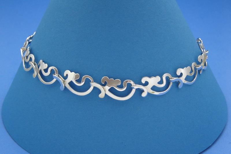 Kleinesbild - romantisches Sterlingsilber-Collier Ornamenti handgearbeitet aus Argentium® kaufen