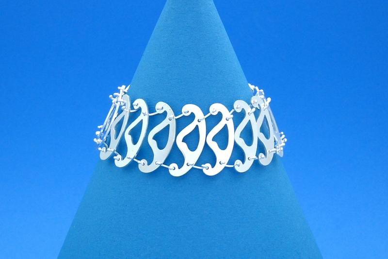 - breites Sterlingsilber-Armband Ordinati handgearbeitet aus Argentium® kaufen - breites Sterlingsilber-Armband Ordinati handgearbeitet aus Argentium® kaufen